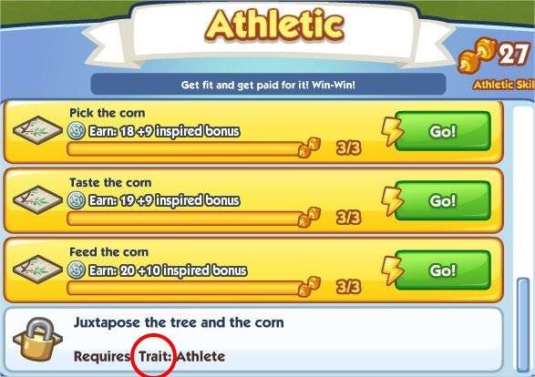 The Sims Social, Trait