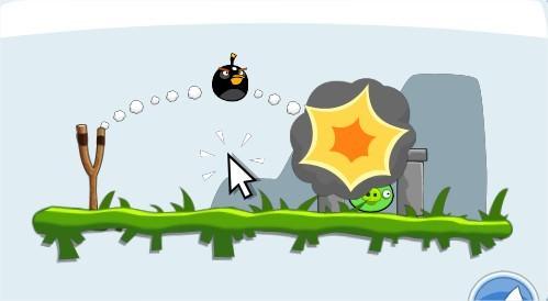 Angry Birds on Facebook, black bird