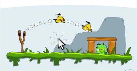 Angry Birds on Facebook, yellow bird