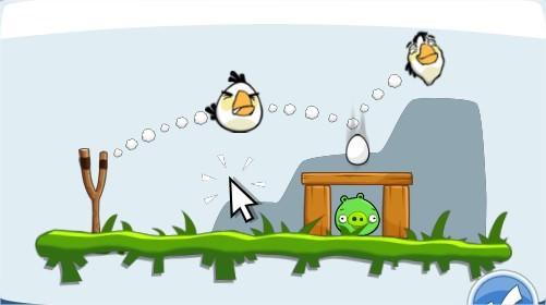Angry Birds on Facebook, white bird
