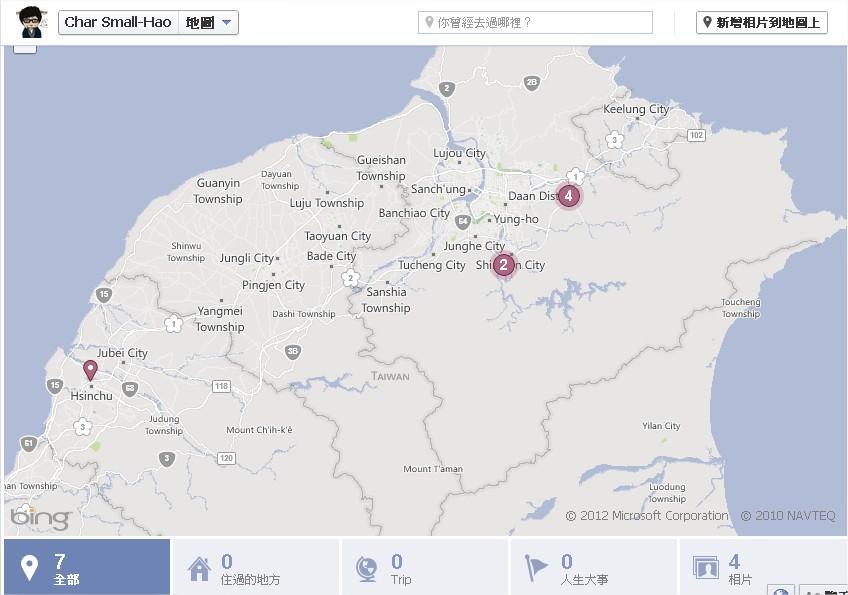 Facebook, 新版動態時報, 地圖