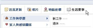 Facebook, 新版 動態時報, 生活要事(人生大事)