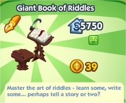 The Sims Social, Giant Book of Riddles