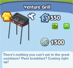 The Sims Social, Venture Grill