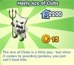 The Sims Social, Nasty Ace Of Clubs