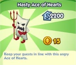 The Sims Social, Nasty Ace Of Hearts