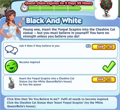 The Sims Social, Black And White 5