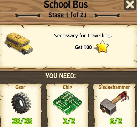 Zombie Island, School Bus