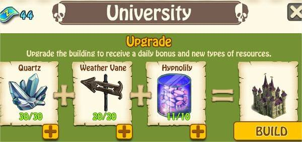 Zombie Island, University