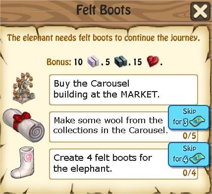 Zombie Island, Felt Boots