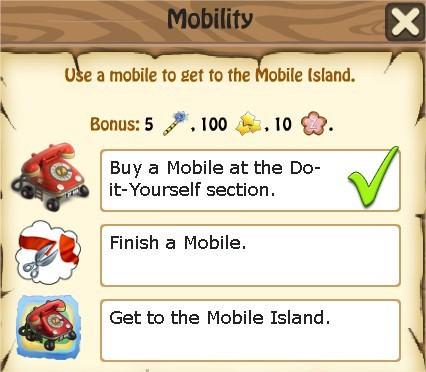 Zombie Island, Mobility