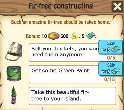 Zombie Island, Fir-tree constructing
