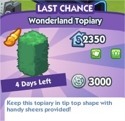 The Sims Social, Wonderland Topiary