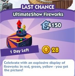 The Sims Social, UltimateShow Fireworks