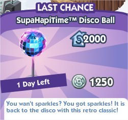 The Sims Social, SupaHapiTime™ Disco Ball