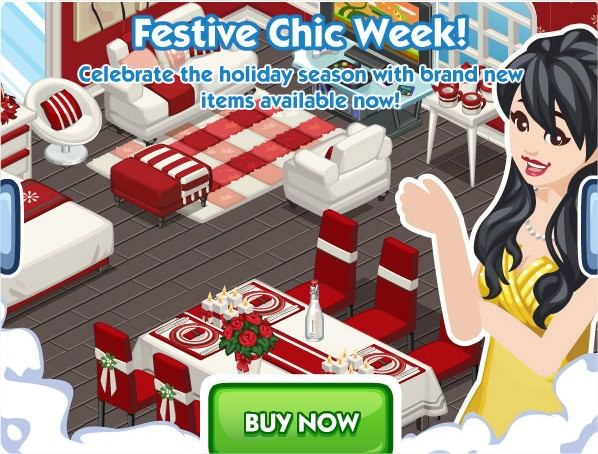 The Sims Social, Festive Chic week