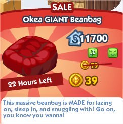 The Sims Social, Okea GIANT Beanbag