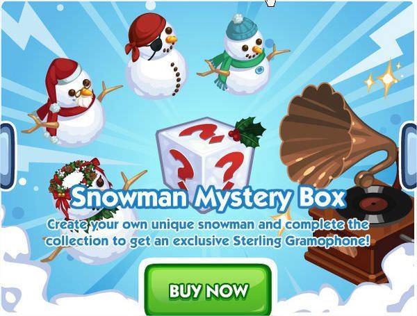 The Sims Social, Snowman Mystery Box