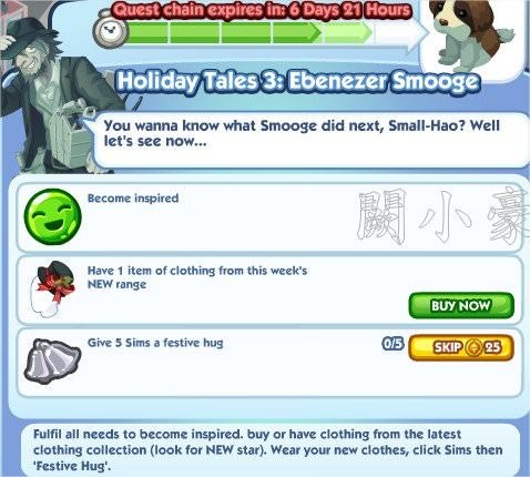 The Sims Social, Holiday Tales 3: Ebenezer Smooge 5
