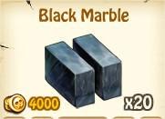 Zombie Island, Black  Marble