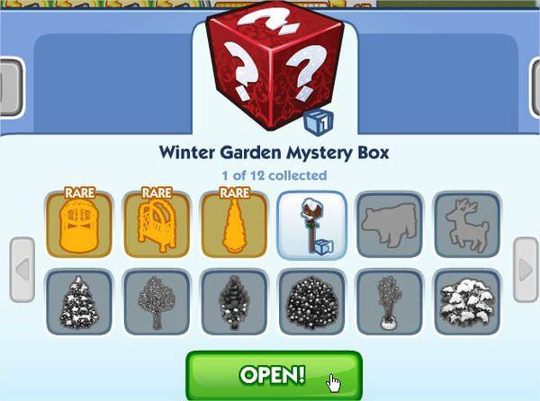 The Sims Social, Winter Garden Mystery Box