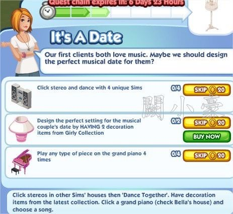 The Sims Social, Is A Date 3