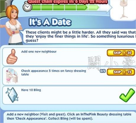 The Sims Social, Is A Date 6
