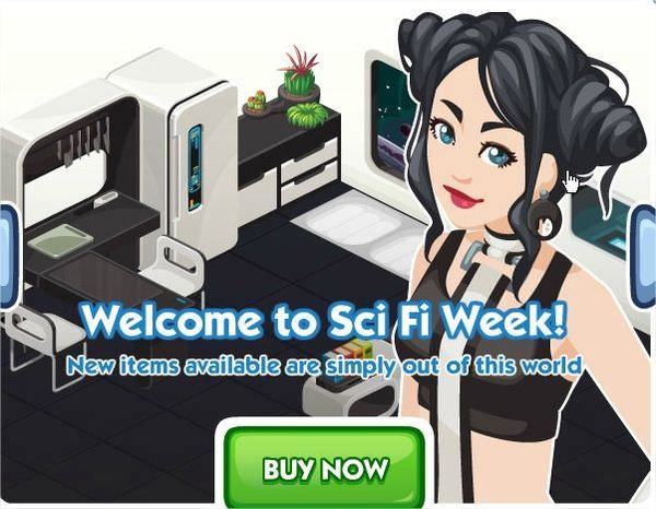The Sims Social, Sci Fi week
