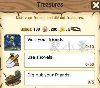 Zombie Island, Treasures