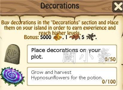 Zombie Island, Decorations
