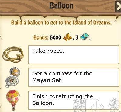 Zombie Island, Ballon