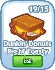 The Sims Social, Dunkin' Donuts Big N' Toasty