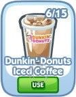 The Sims Social, Dunkin' Donuts Iced Coffee
