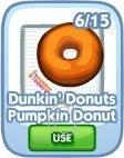 The Sims Social, Dunkin' Donuts Pumpkin Donut