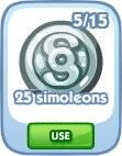 The Sims Social, 25 simoleons