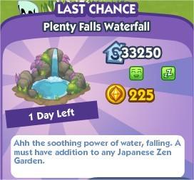 The Sims Social, Plenty Falls Waterfall