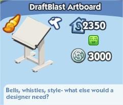 The Sims Social, DraftBlast Artboard