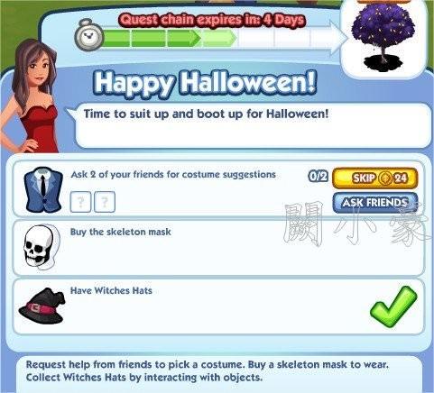 The Sims Social, Happy Halloween! 4