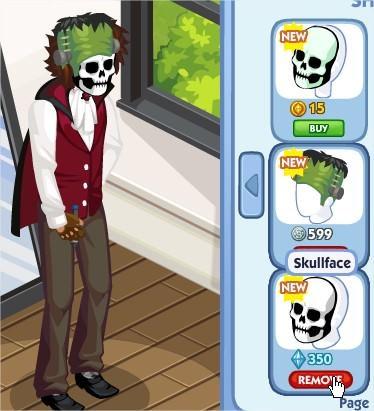 The Sims Social, Skullface