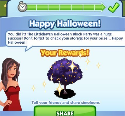 The Sims Social, Halloween Tree