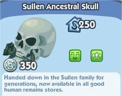 The Sims Social, Sullen Ancestral Skull