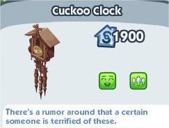 The Sims Social, Cuckoo Clock