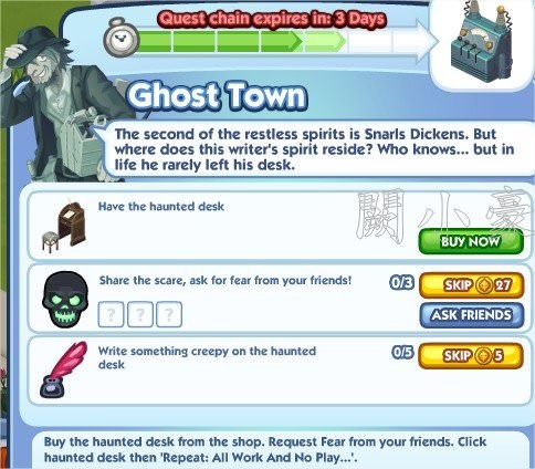 The Sims Social, Ghost Town 5