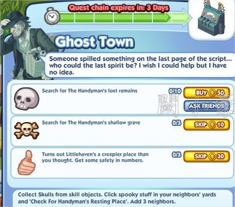 The Sims Social, Ghost Town 7
