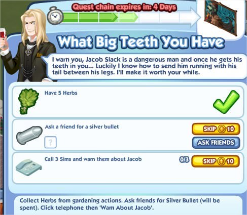 The Sims Social, What Big Teeth You Have 4