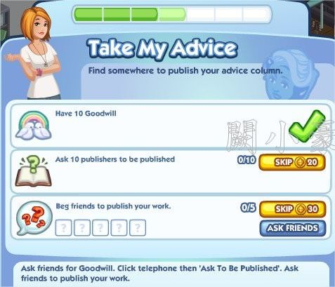 The Sims Social, Take My Advice 4