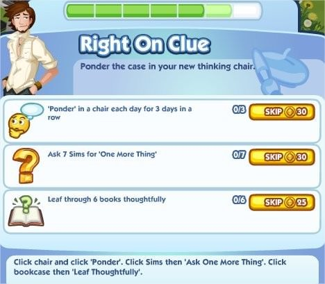The Sims Social, Right On Clue 6