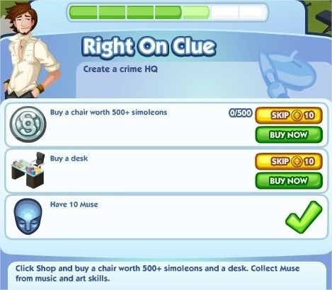 The Sims Social, Right On Clue 5
