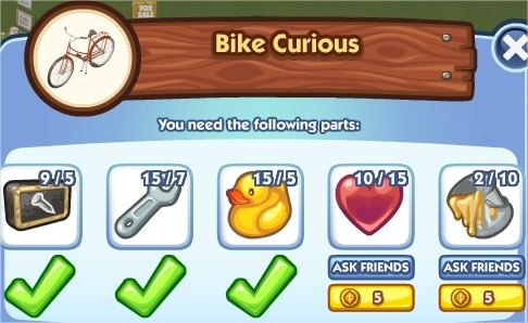 The Sims Social, Bike Curious