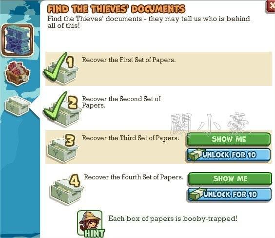 Adventure World, Find The Thieves